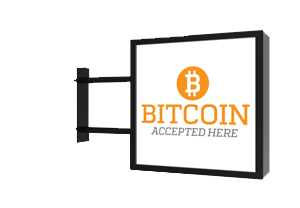 Bitcoin Accepted Here Sign - We accept cryptocurrencies for payment