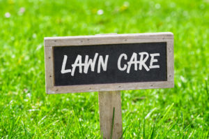 lawn care services sign